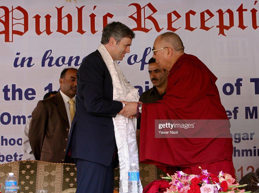 Tibetan Spiritual Leader Dalai Lama In Kashmir