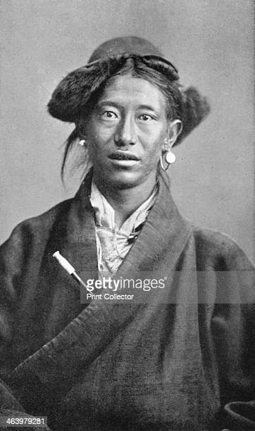 A Tibetan woman c1910 Plate taken from Views of Darjeeling with Typical Native Portraits and Groups by J Burlington Smith published by Hood Co Ltd
