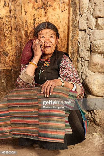 Tibetan woman from Lo Manthang in Mustang, Nepal