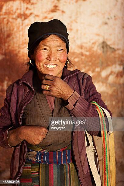 Tibetan woman in Lo Manthang, Mustang