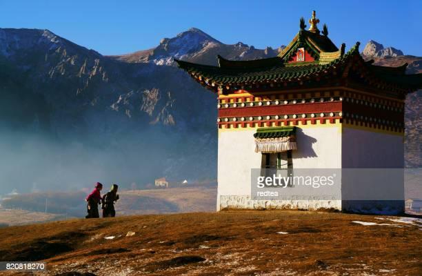 tibetan woman - mt kailash stock pictures, royalty-free photos & images