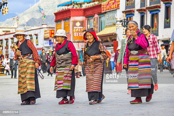 Tibetan Women Pilgrims in Lhasa Tibet China