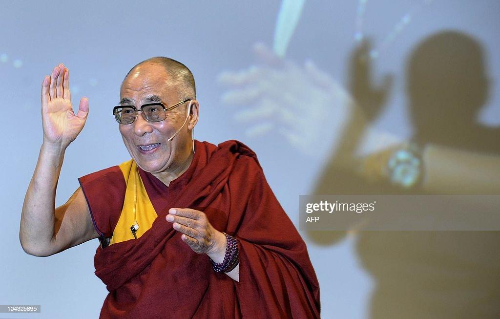 Tibetian spiritual leader, the Dalai Lam : News Photo