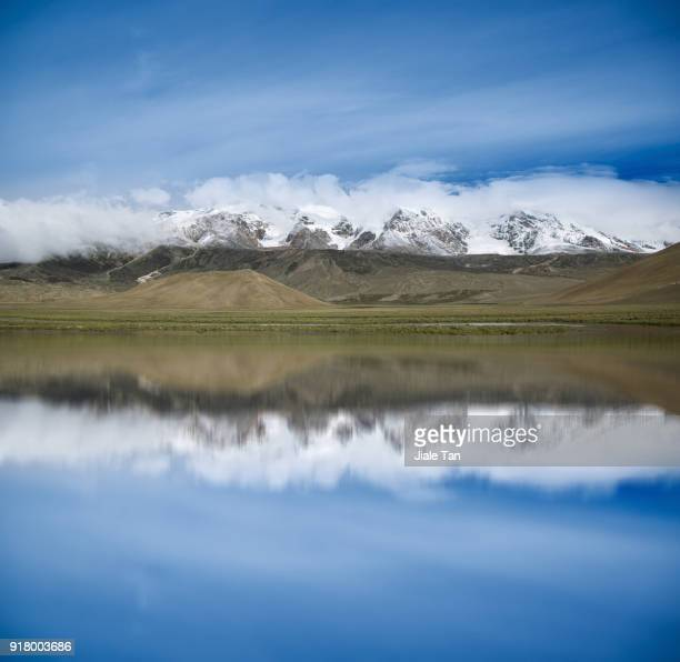Tibet's Snowy Mountain and Lake