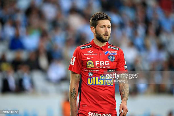 Tibor Joza of Falkenberg during the Allsvenskan match between Malmo FF and Falkenbergs FF at Swedbank Stadion on May 23 2016 in Malmo Sweden
