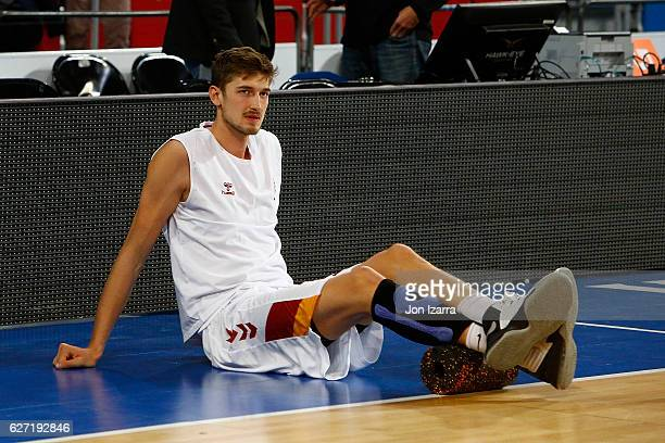 Tibor Pleiss #21 of Galatasaray Odeabank Istanbul in action during the 2016/2017 Turkish Airlines EuroLeague Regular Season Round 10 game between...