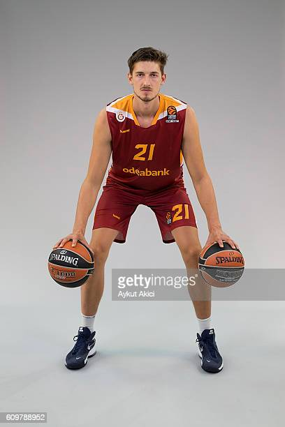 Tibor Pleiss #21 of Galatasaray Odeabank Istanbul poses during the 2016/2017 Turkish Airlines EuroLeague Media Day at Abdi Ipekci Arena on September...