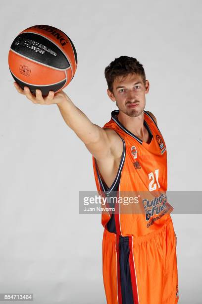 Tibor Pleiss #21 poses during Valencia Basket 2017/2018 Turkish Airlines EuroLeague Media Day at Pabellon Fuente de San Luis on September 25 2017 in...