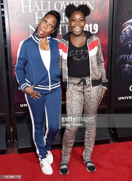 Tichina Arnold and Alijah Kai Haggins arrive at the Opening Night Of Universal Studios' Halloween Horror Nights at Universal Studios Hollywood on...