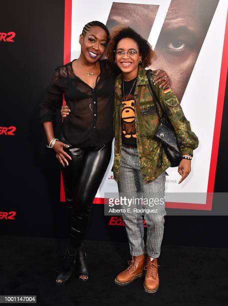 Tichina Arnold and Alijah Kai Haggins attend the premiere of Columbia Pictures' Equalizer 2 at the TCL Chinese Theatre on July 17 2018 in Hollywood...