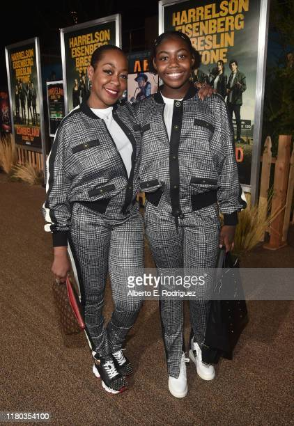 Tichina Arnold and Alijah Kai Haggins attend the premiere of Sony Pictures' Zombieland Double Tap at The Regency Village Theatre on October 10 2019...
