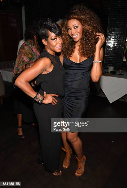 """Tichina Arnold and Cynthia Bailey at Survivor's Remorse x Upscale Magazine """"Champions Table"""" Private Dinner at American Cut on August 14, 2017 in..."""