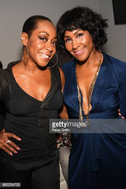 Tichina Arnold and Terri J Vaughn at Survivor's Remorse Season 4 Celebration and RonReaco Lee's Kontrol Homme Cover Release Party at The Marke on...