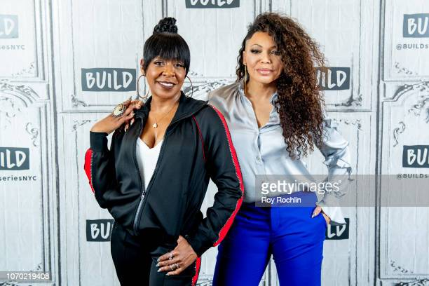 """Tichina Arnold and Tisha Campbell discuss """"The Neighborhood"""" with the Build Series at Build Studio on November 20, 2018 in New York City."""