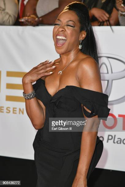 Tichina Arnold at the 49th NAACP Image Awards on January 15 2018 in Pasadena California