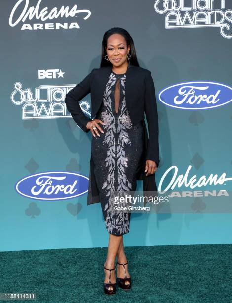 Tichina Arnold attends the 2019 Soul Train Awards at the Orleans Arena on November 17 2019 in Las Vegas Nevada