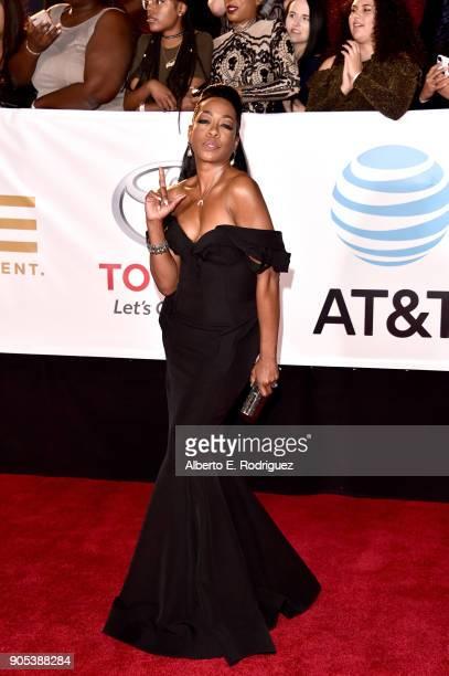 Tichina Arnold attends the 49th NAACP Image Awards at Pasadena Civic Auditorium on January 15 2018 in Pasadena California