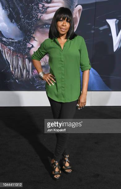 Tichina Arnold attends the premiere of Columbia Pictures' Venom at Regency Village Theatre on October 1 2018 in Westwood California