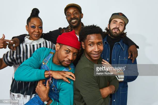 Tichina Arnold Jonathan Majors Rob Morgan Jimmie Fails and Joe Talbot from 'The Last Black Man in San Francisco' pose for a portrait in the Pizza Hut...