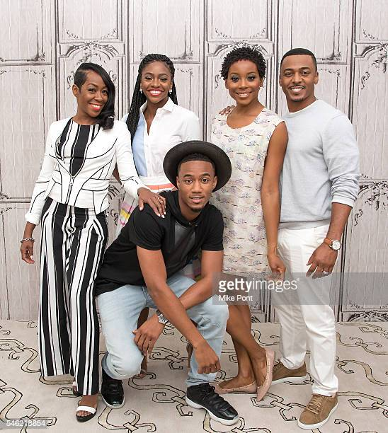 Tichina Arnold Teyonah Parris Jessie T Usher Erica Ash and RonReaco Lee attend the AOL Build Speaker Series to discuss Survivor's Remorse at AOL...
