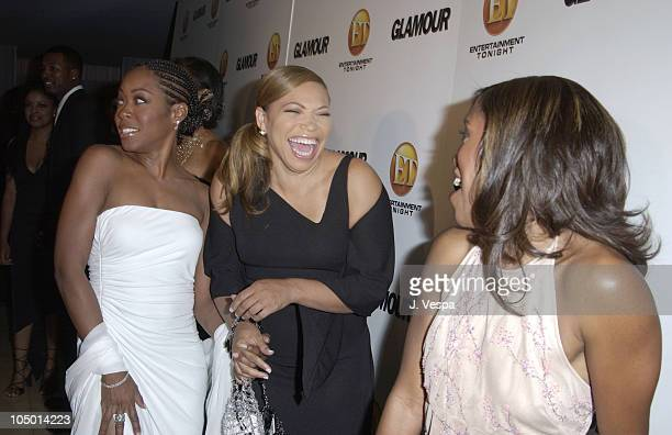Tichina Arnold Tisha Campbell and Regina King during ET/GLAMOUR Emmy Party Celebrating a Night of GLAMOUR on Sunset at Mondrian Hotel in West...