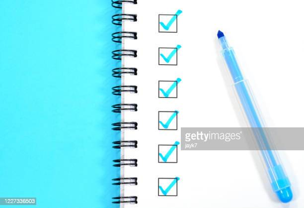 tick mark - checklist stock pictures, royalty-free photos & images