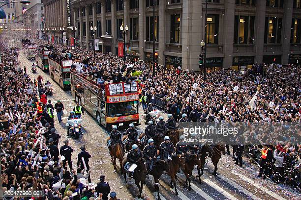 ticker tape parade for world series champions, chicago white sox - ticker tape stock pictures, royalty-free photos & images