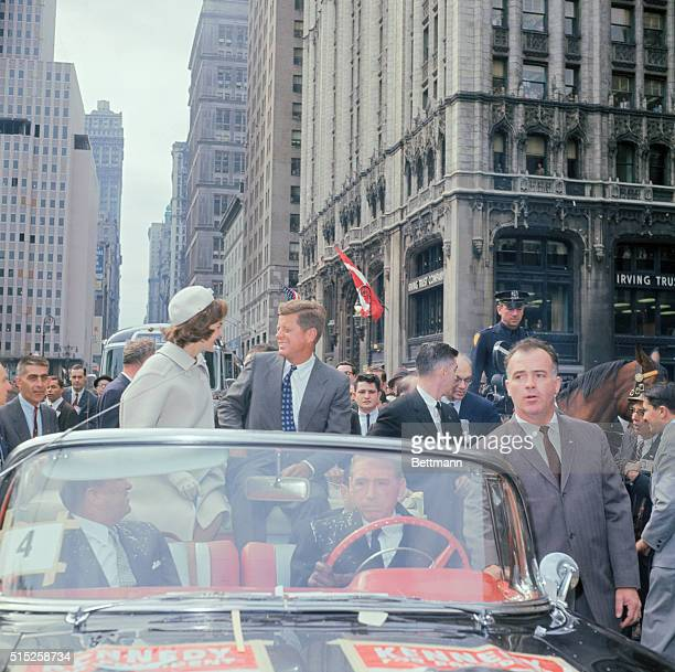 Ticker Tape Parade given to Senator John Kennedy and his wife Jacqueline in New York