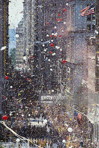 ticker tape parade , new york city , usa - ticker tape stock pictures, royalty-free photos & images