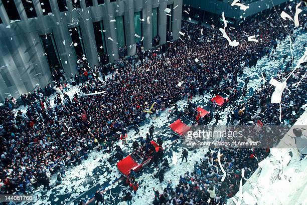 Tickertape Parade on Wall Street New York