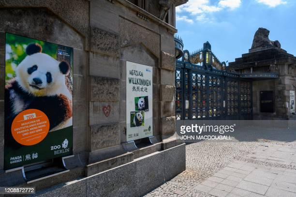 Ticket counters at Berlin's Zoologischer Garten zoo are closed on April 1 amid a new coronavirus COVID-19 pandemic.