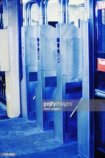 Ticket gates at a subway station