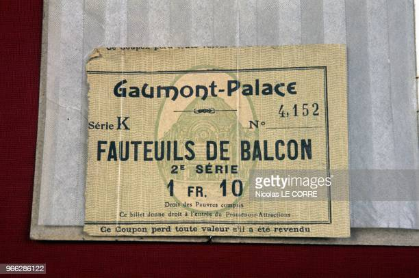 Ticket Of Gaumont Palace Theater In Paris At 100th Anniversary Of Gaumont Exhibition Paris February 27 1995