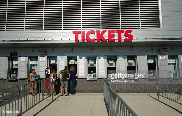 Ticket office at The Red Bull Arena in Harrison, New Jersey - home stadium of Major League Soccer team, New York Red Bulls