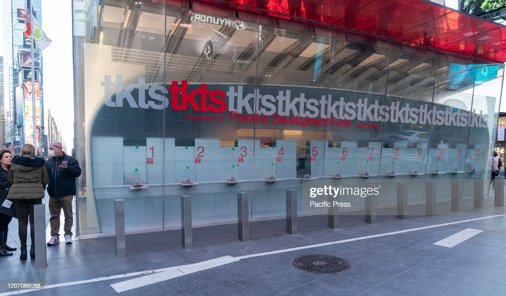 Ticket office for Broadway shows closed because of... : News Photo