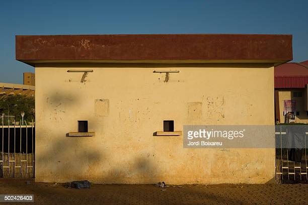 CONTENT] Ticket office outside National Soccer Stadium in Niamey Niger