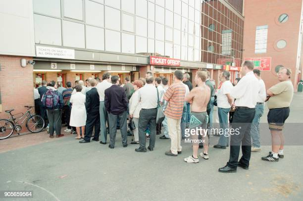 Ticket Queues at Anfield Stadium for Quarter Final match between France and Netherlands Liverpool Thursday 20th June 1996