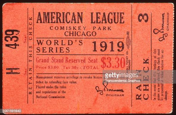 Ticket stub from game three of the World Series , Chicago