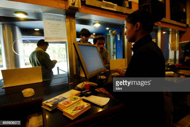 Ticketing counter at PVRAnupamSaket photographed on February 19 2010 in New Delhi India