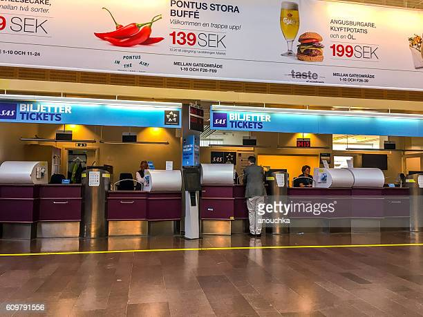 SAS Tickets counters at Arlanda airport, Stockholm, Sweden
