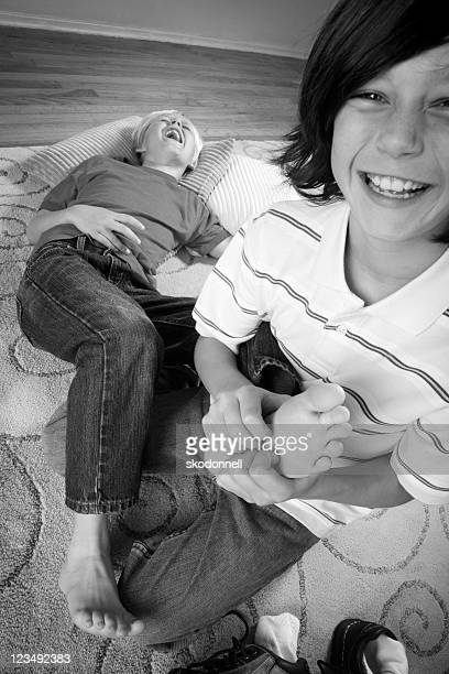 tickling feet - tickling feet stock photos and pictures