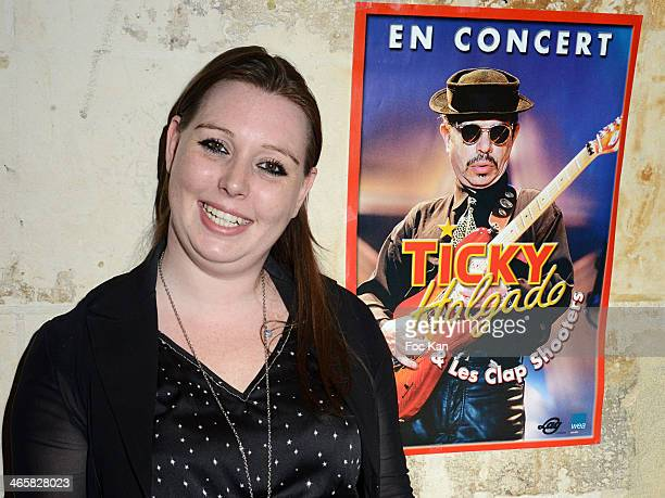 Ticky Holgado's daughter Jessica Holgado attends the Tribute To Actor Ticky Holgado At The O Mantra Club on January 29, 2014 in Paris, France.