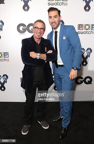 Tico Torres and Roberto Pardo attend as GQ and One For The Boys with Swatch host the London Collections Men closing night karaoke at Abbey Road...