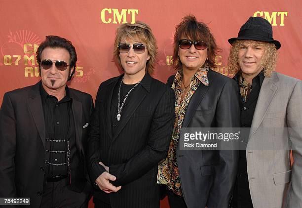 Tico Torres, Jon Bon Jovi, Richie Sambora and David Bryan of Bon Jovi at the The Curb Event Center at Belmont University in Nashville, Tennessee