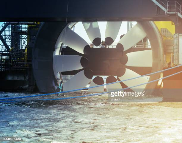 tidal power turbine - tide stock pictures, royalty-free photos & images