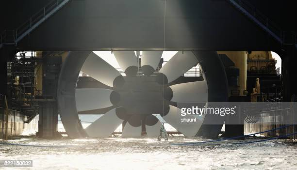 tidal turbine - tide stock pictures, royalty-free photos & images