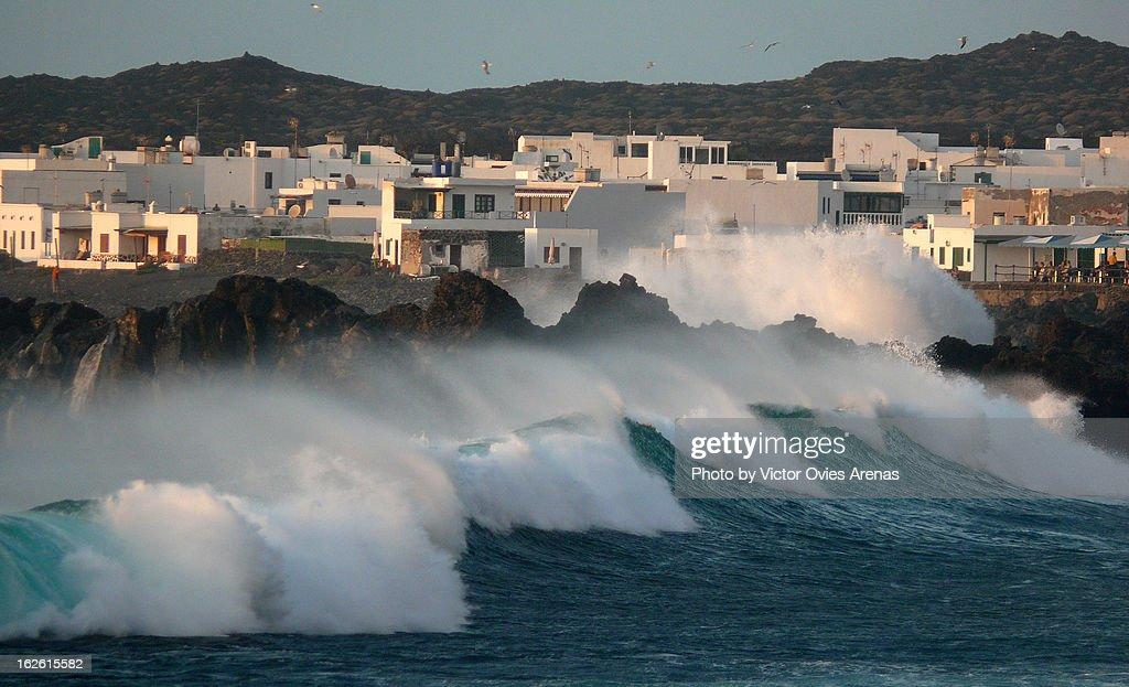 Tidal Waves in El Golfo : Foto de stock