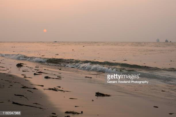Tide Lapping on the Beach, Kerala, India