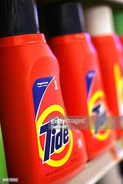 Tide laundry detergent is displayed in a grocery store in New York on Tuesday May 1 2007 Procter Gamble Co the largest US consumergoods maker said...