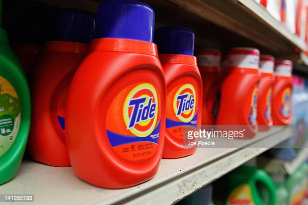 Tide laundry detergent is seen on a store shelf on March 13 2012 in Miami Florida It was recently reported that the theft and black market resale of...
